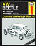 Haynes workshop manual VW Type 1 Beetle 1200cc 1954 to 1977